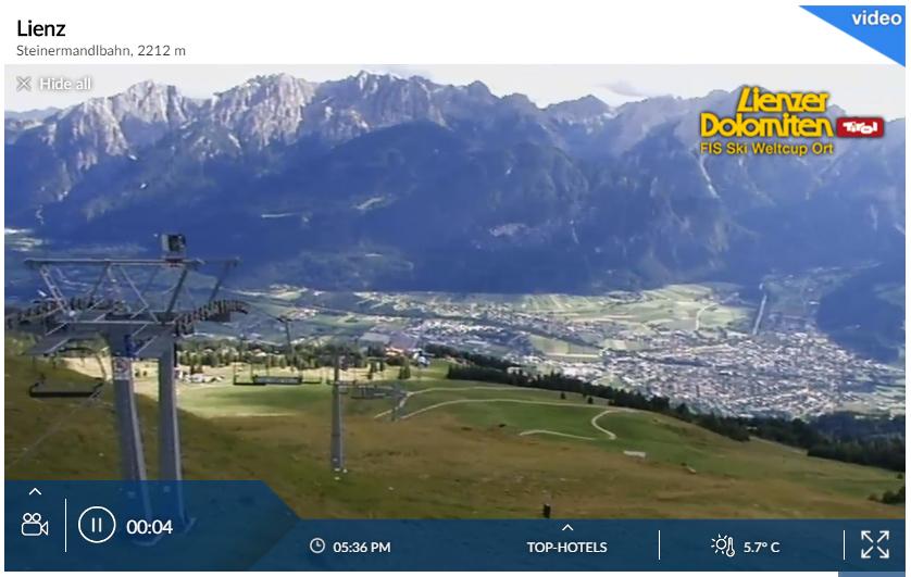 Webcam - Lienz Zettersfeld - Steinermandl
